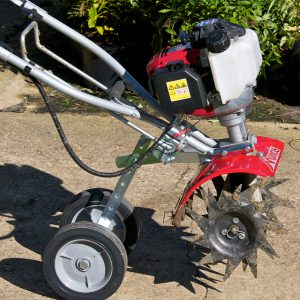 Wheel Set Attachment for Mantis Tillers
