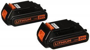 Black & Decker LBXR20B-2 20V MAX Lithium Battery, 2-Pack