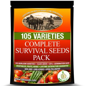 105 Varieties Survival Seeds Vault