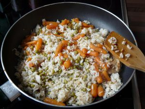 Carrots and Rice Stir Fry