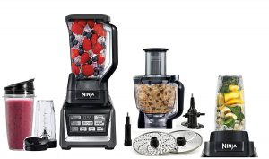 Nutri Ninja Mega 1500 Watts Kitchen System, Blending and Food Processing, 1 Base 2 Functions Auto-iQ Technology