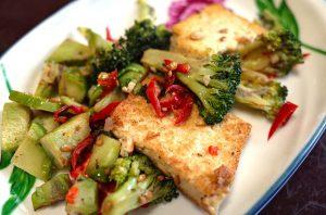 Broccoli and tofu stir fry.