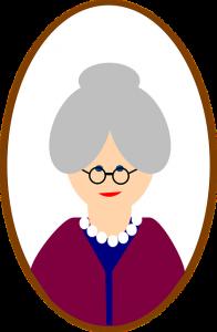 Grandma shucks peas.