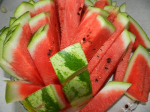 You guessed it! It is a watermelon!