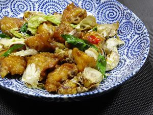 Garlic chicken stir fry.