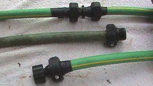 Repaired garden hoses.