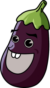 Laughing eggplant.