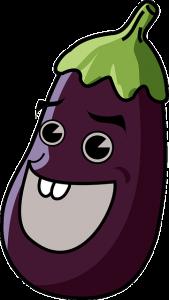 Laughing eggplant.