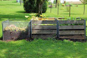Three bin composting system.