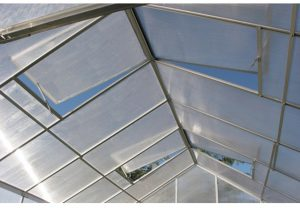 Four Roof vents in the One Stop Gardens Greenhouse PC93358.
