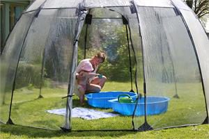 Sunbubble - a place for the kiddie pool.