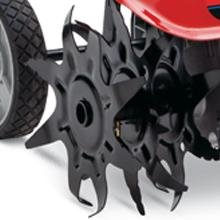 TC146EC can adjust tilling width to 6, 9, or 12 inches.