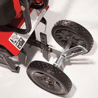 Large 7-inch wheels.