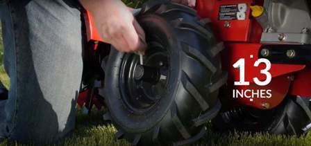 Southland SRTT196E 13 inch wheels.