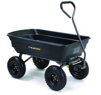Gorilla GOR4PS Poly Garden Dump Cart