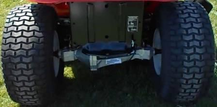 Troy-Bilt TB2246's large rear wheels