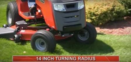 "Snapper SPX 23/42 14"" turning radius"