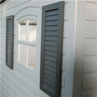 Lifetime 6446 has 2 windows with shutters.