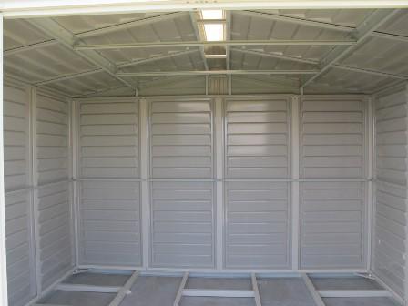 Duramax Woodbridge Model 00584 Storage Shed Interior