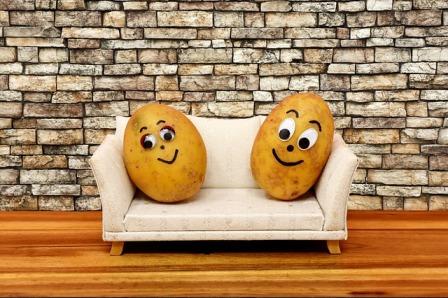 Yam's couch potato parents