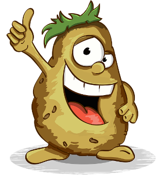 Thumbs up from Mr. Potato.