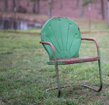 Jim's vintage garden chair