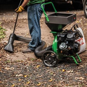 Tazz Wood Chipper Shredder- optional vacuum kit.