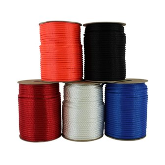 A good quality 1/8 inch diameter braided nylon rope.