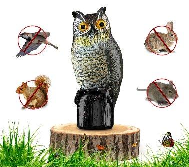 Fake Owl Decoy for Gardens