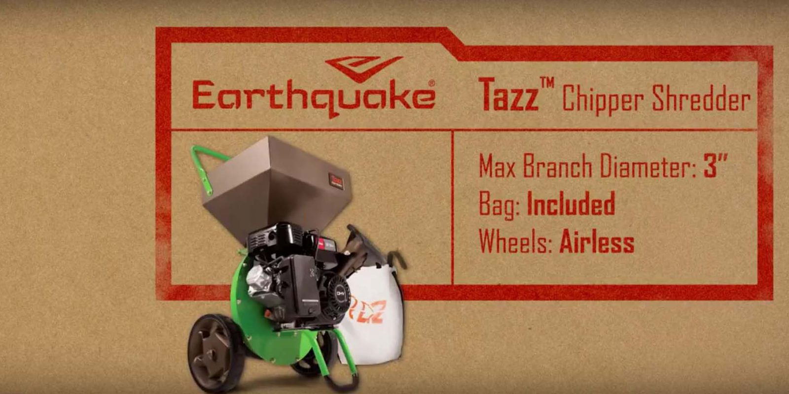 Tazz Wood Chipper Shredder
