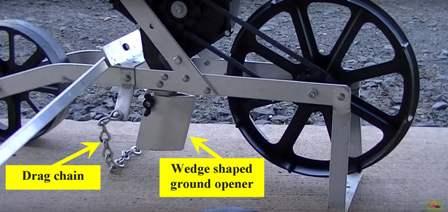 Wedge shaped ground opener