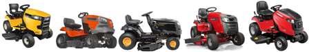 Garden tractor choices.