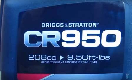 YARDMAX YW7565 - Briggs and Stratton engine