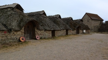 Ancient Celtic houses in Medieval Europe.