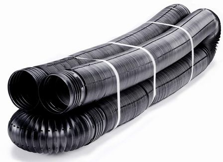 Flex-Drain 52012 Flexible/Expandable Landscaping Drain Pipe, Perforated, 4-Inch by 50-Feet