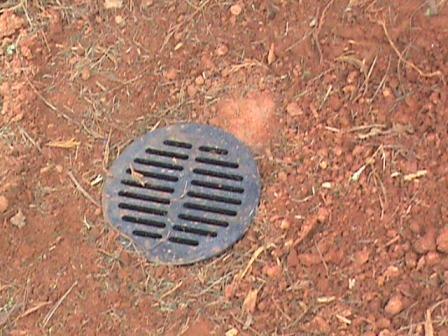 Catch basin buried