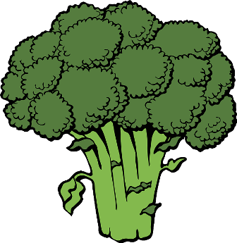 Mr. Broccoli looks like a tree.