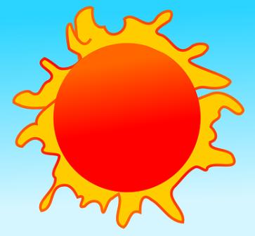 Summertime hot sun.