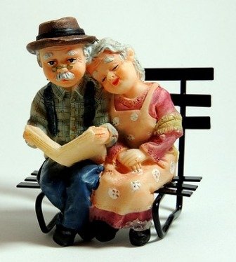Healthy elderly couple