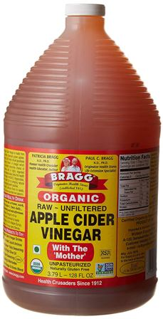 Bragg Apple Cider Vinegar, Organic, Raw, Unfiltered, with the 'Mother' (Naturally Gluten Free – Certified Non-GMO)