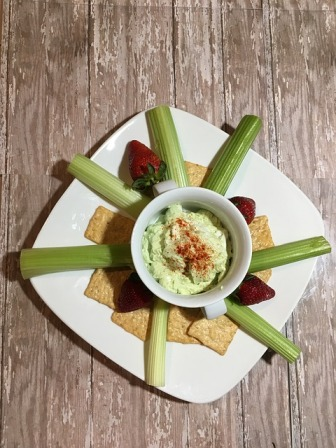 celery sticks and dip