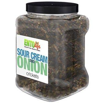 Sour Cream and Onion 1 lb Crickets