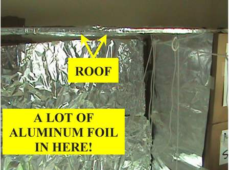 Roof board and a lot of aluminum foil!