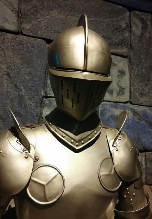 Medieval suit of armor.