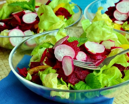 Salad with beets.
