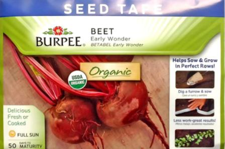 Beets - Early Wonder seed tape
