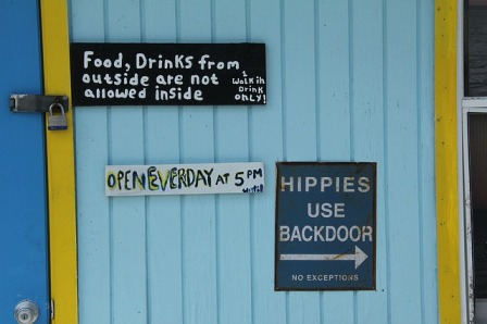 Hippies Use The Back Door
