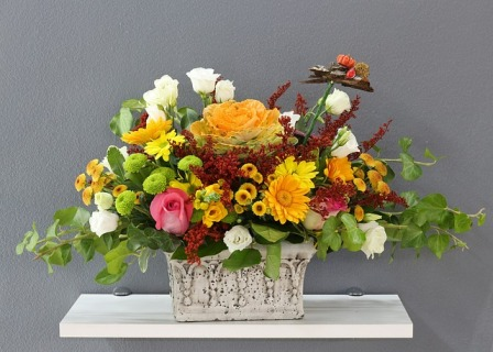 A nice flower arrangement for Marty's friend, Betsy.