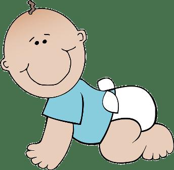 Baby in diaper.