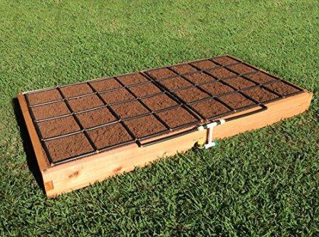 Cedar Raised Garden Kit with Irrigation